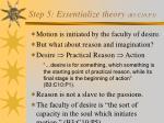 step 5 essentialize theory b3 c10 p3