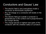 conductors and gauss law
