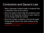 conductors and gauss s law