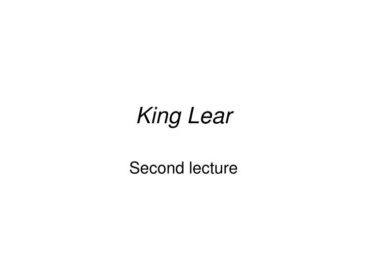 creative critical response to king lear