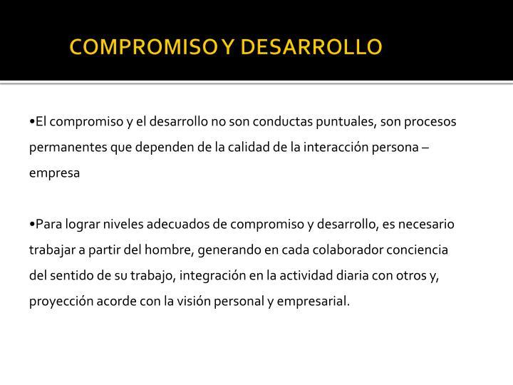 COMPROMISO Y DESARROLLO