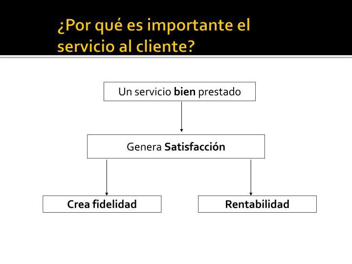 ¿Por qué es importante el servicio al cliente?