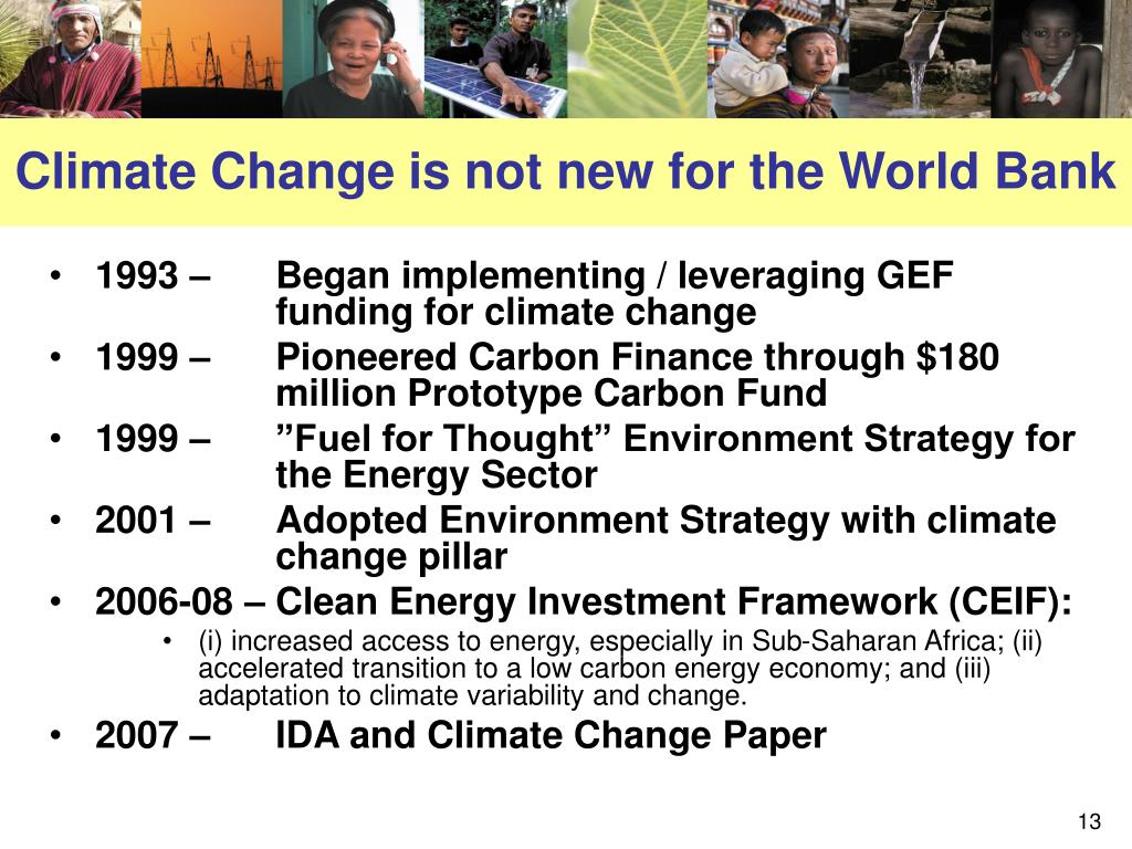 Climate Change is not new for the World Bank