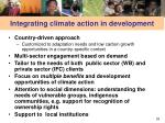 integrating climate action in development