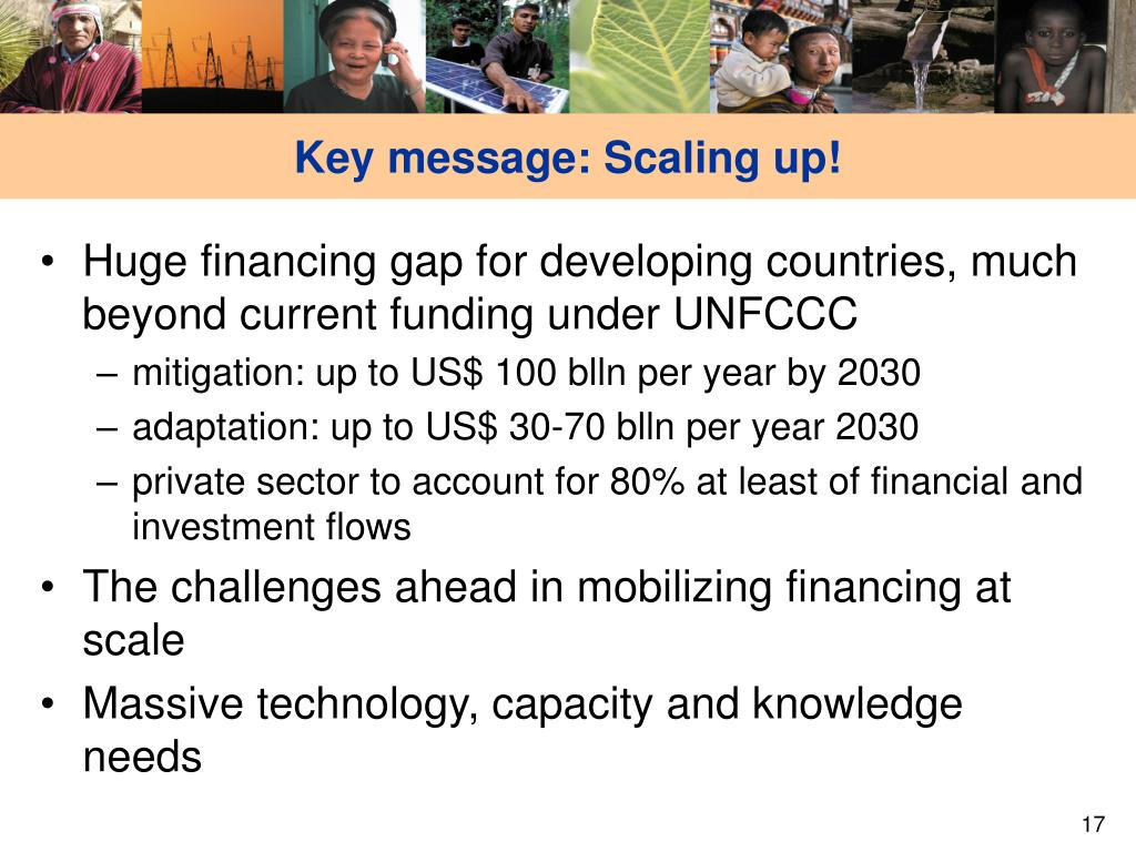 Key message: Scaling up!