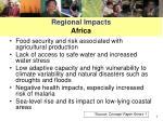 regional impacts africa