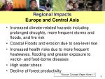 regional impacts europe and central asia