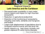 regional impacts latin america and the caribbean