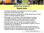 regional impacts south asia