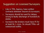 suggestion on licensed surveyors