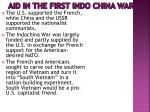 aid in the first indo china war