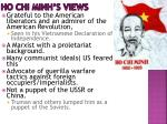 ho chi minh s views