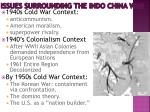 issues surrounding the indo china war
