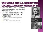 why would the u s support the colonialization of vietnam in 1946