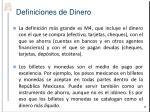 definiciones de dinero1