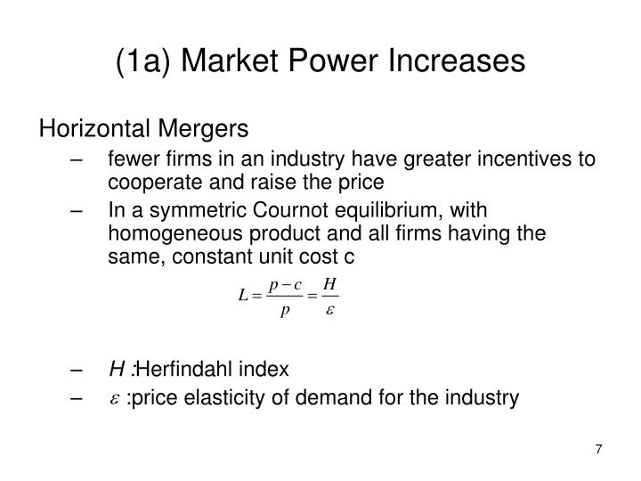 (1a) Market Power Increases
