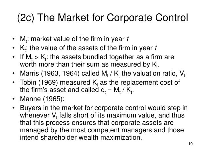 (2c) The Market for Corporate Control
