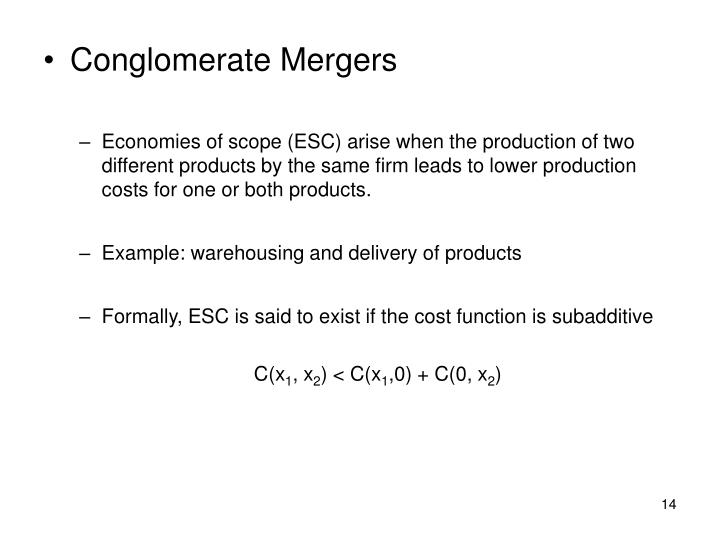 Conglomerate Mergers