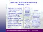 stationary source fuel switching beijing china