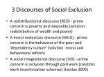 3 discourses of social exclusion