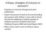 critique strategies of inclusion or exclusion