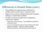 differences in growth rates cont