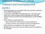 different preferences about inflation and unemployment cont