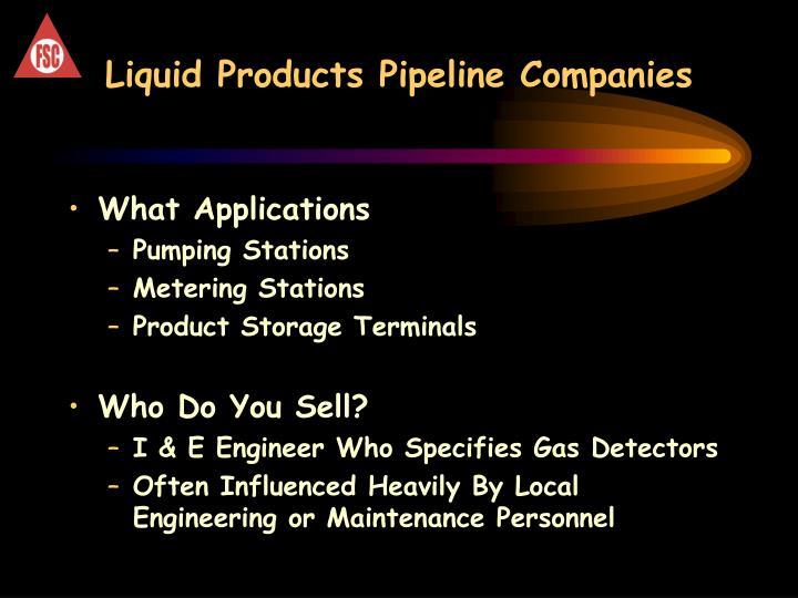 Liquid Products Pipeline Companies