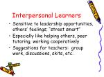 interpersonal learners
