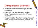 intrapersonal learners