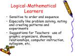 logical mathematical learners