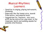 musical rhythmic learners