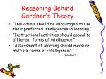 reasoning behind gardner s theory