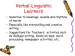 verbal linguistic learners