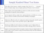 sample stanford binet test items