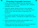 promoting geographic awareness