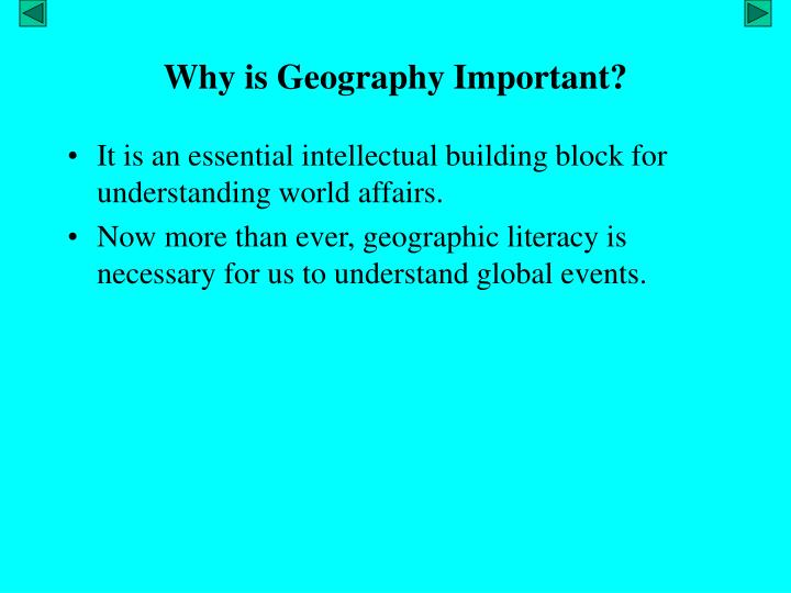 why is geography important n.