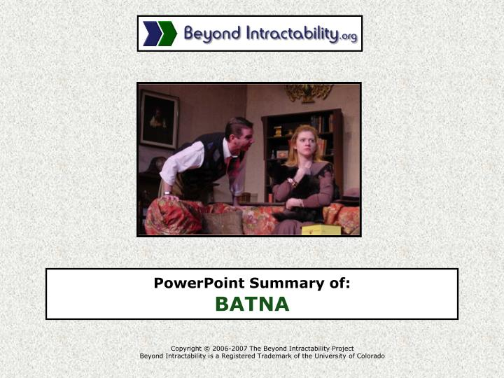 Copyright © 2006-2007 The Beyond Intractability Project