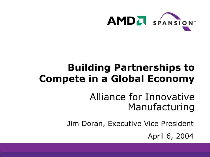 building partnerships to compete in a global economy n.