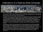 implications of a state by state campaign