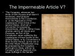 the impermeable article v