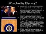 who are the electors