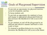 goals of playground supervision