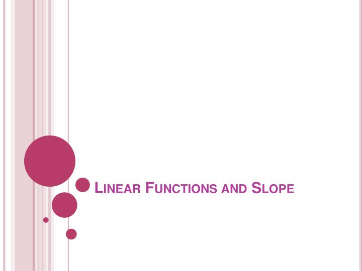 linear functions and slope n.