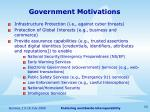 government motivations