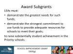 award subgrants