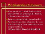 our opportunities to be intercessors10