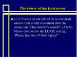 the power of the intercessor33