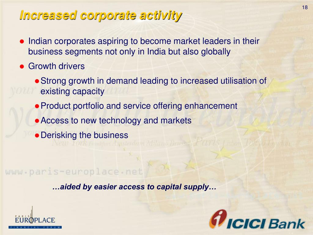 Increased corporate activity