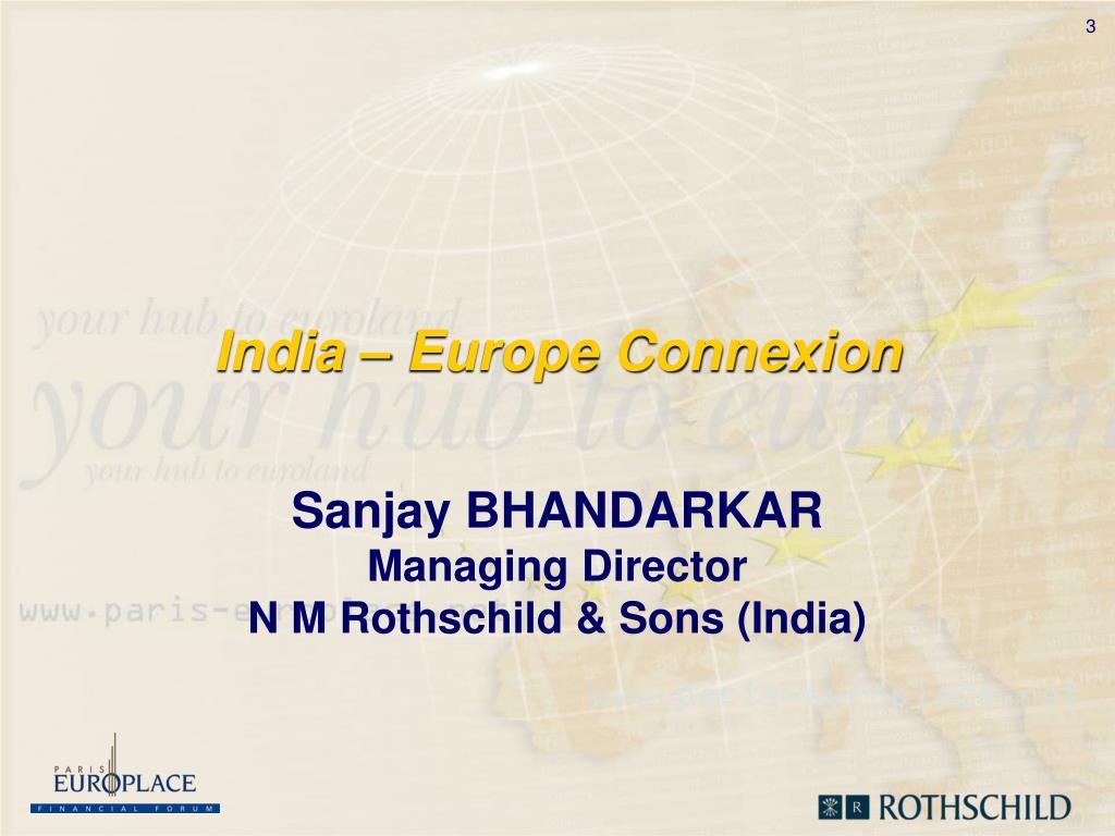 India – Europe Connexion